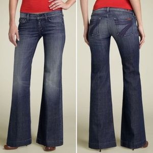 7 For All Mankind DOJO Flare Lexie Petite Jeans 28